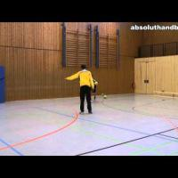 Teamhandball training for wingman
