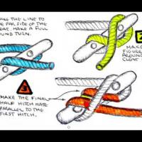 Marine Knots - Tie a Cleat Hitch